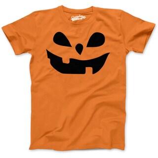 Youth Teardrop Eyes Pumpkin Face Funny Fall Halloween Spooky T shirt