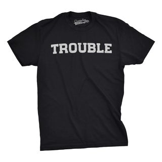 Youth Trouble Shirt Funny T shirts for Kids Hilarious Troublemaker Gift Idea Cute T shirt