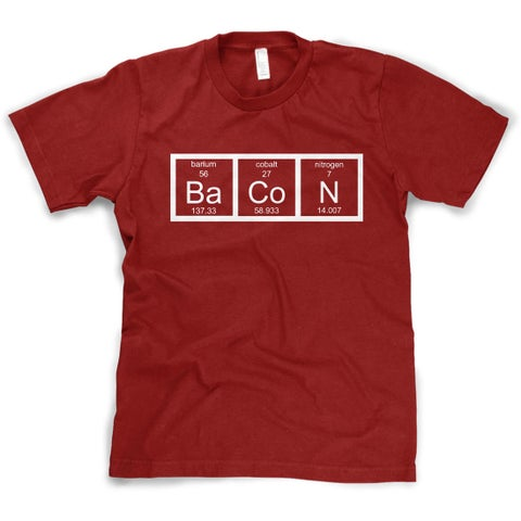 Youth The Chemistry Of Bacon T Shirt Funny Periodic Table Tee For Kids