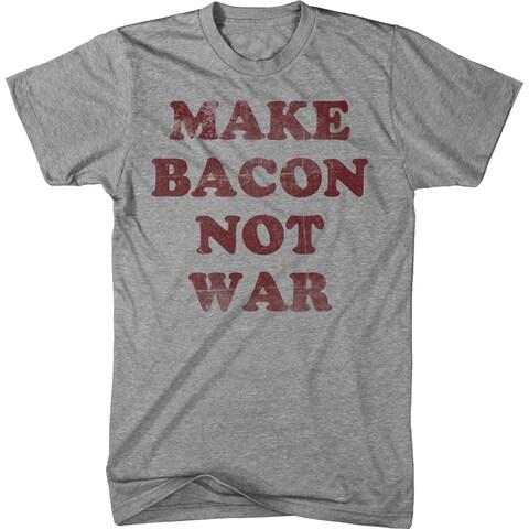 Youth Make Bacon Not War T Shirt funny Bacon shirt I love bacon tee for kids