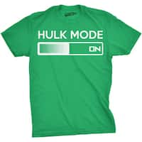 Youth Hulk Mode On T Shirt Funny Comic Book Nerdy Tee For Kids