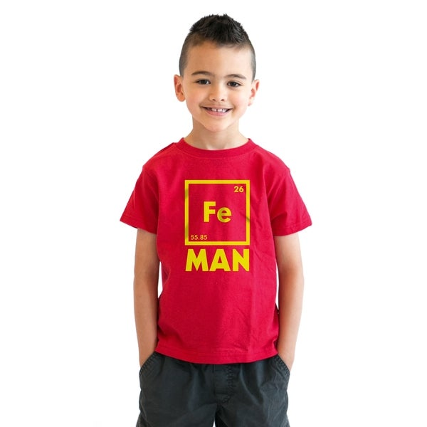 Shop Youth Iron Man Science T shirt Cool Shirts Novelty ...