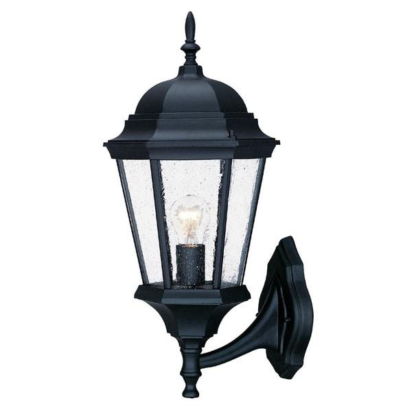 Acclaim Lighting Richmond Collection Wall-Mount 1-Light Outdoor Matte Black Light Fixture