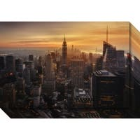 Canvas Art Gallery Wrap 'Manhattan's Light' by Jorge Ruiz Dueso 24 x 16-inch
