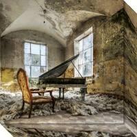 Canvas Art Gallery Wrap 'In Heaven Piano' by Mario Benz 18 x 18-inch