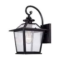 Acclaim Lighting Salem Collection Wall-Mount 1-Light Outdoor Matte Black Light Fixture