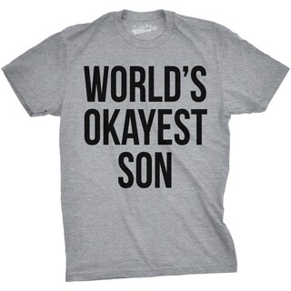 Youth World's Okayest Son Funny Best Child Ever Family T shirt for Kids