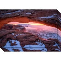 Canvas Art Gallery Wrap 'The Moment Right Before Sunrise' by Daniel F. 27 x 18-inch
