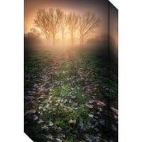Canvas Art Gallery Wrap 'Misty Morning' by Luca Rebustini 17 x 27-inch