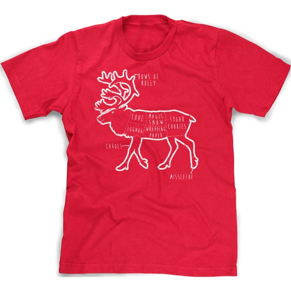 02a30daf Shop Youth Reindeer Parts T Shirt Funny Christmas Shirt Xmas Tee for Kids -  On Sale - Free Shipping On Orders Over $45 - Overstock - 18849720
