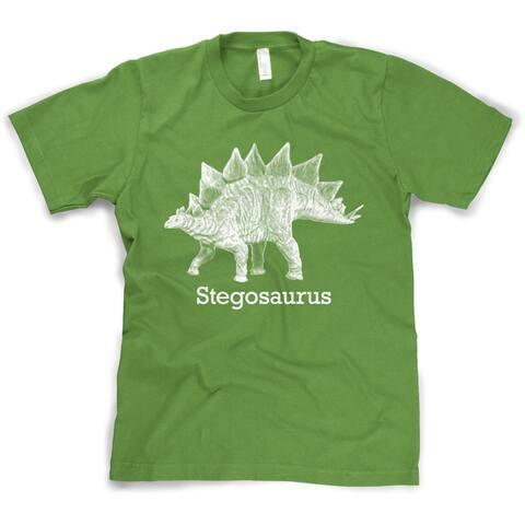 Youth Stegosaurus Graphic T-Shirt Vintage Jurassic Dinosaur Shirt for Kids