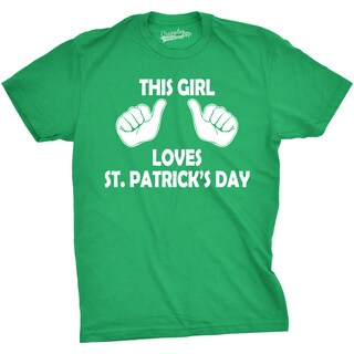 Youth This Girl Loves St. Patrick's Day Funny Paddy's Day Tee for Kids