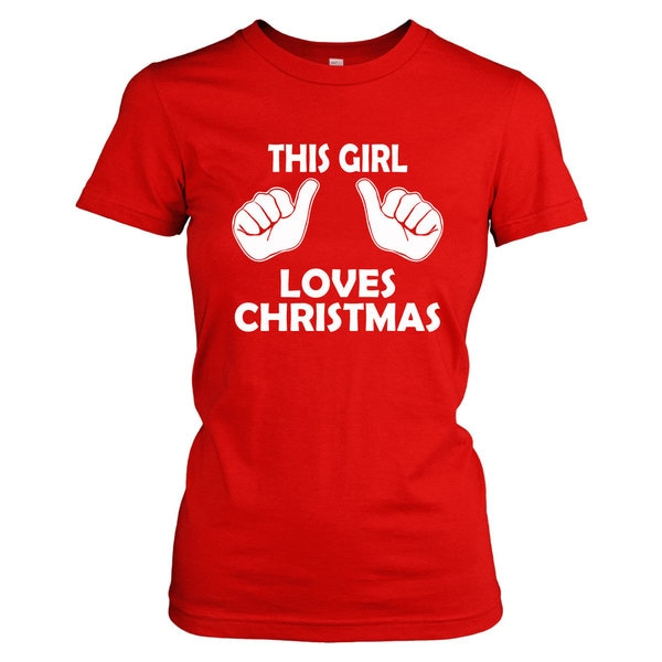 0ad38d717 Shop Youth This Girl Loves Christmas Shirt Kids Xmas Party Holiday Shirt  For Girls - On Sale - Free Shipping On Orders Over $45 - Overstock -  18849749