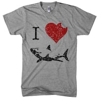 Kids' I Love Sharks T Shirt Classic Youth Shark Bite Shirt Shark Tee