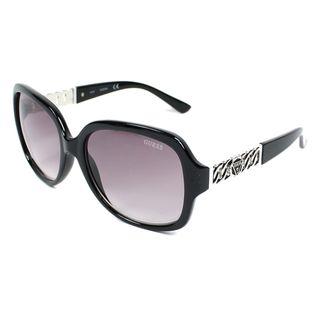 Guess 0291 52F Womens Black Frame Grey Lens Sunglasses (Option: Black)