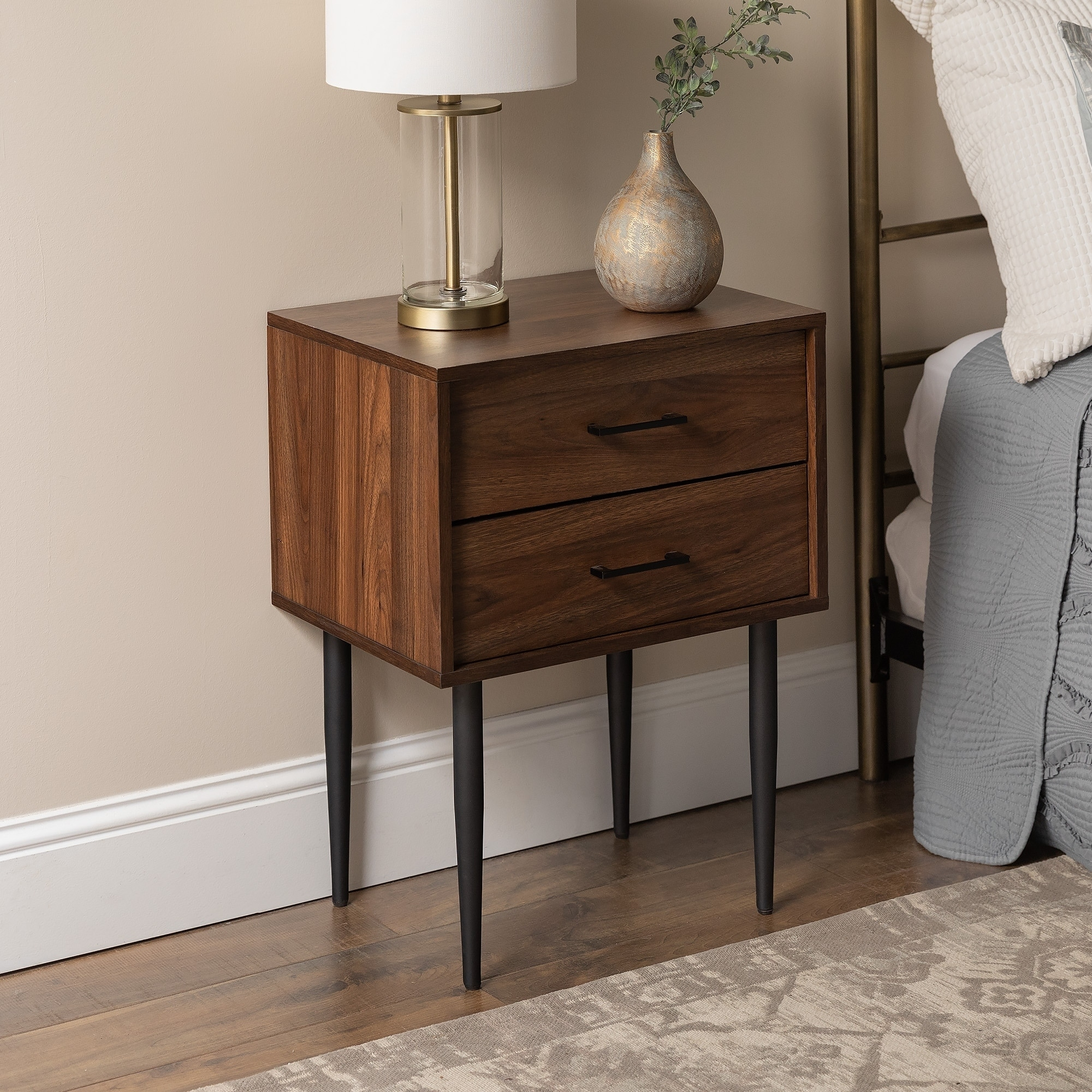 Carson Carrington Notto 20 Inch Modern 2 Drawer Nightstand