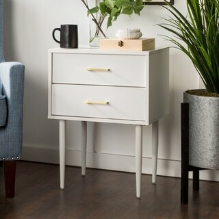 "20"" Modern Two-Drawer Nightstand - 20 x 15 x 26h"