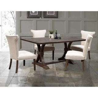 Best Master Furniture Weathered Oak Rectangular Dining Table