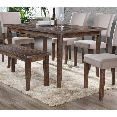 Best Master Furniture Antique Natural Oak Rectangular Dining Table