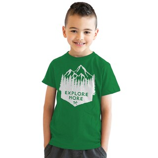 Youth Explore More Funny Summer Camping Hiking Outdoors T shirt
