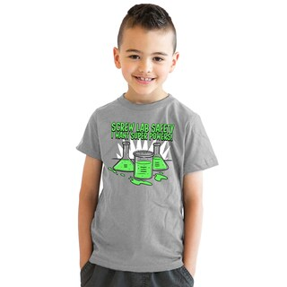 Youth Screw Lab Safety I Want Superpowers Nerdy Science T shirt for Kids (4 options available)