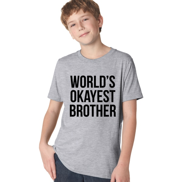 775a94f4c Youth Worlds Okayest Brother Shirt Funny T shirts Big Brother Sister Gifts  for Kids