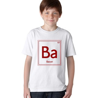 Youth Periodic Element of Bacon T-Shirt - Funny Food Shirt for Kids