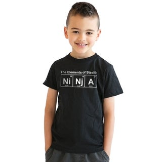 Youth Ninja Element T shirt Funny Science Warrior Novelty Kids Graphic Nerdy Tees