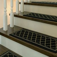 "Stair Treads Bruges 5-pc set by Bacova - 9"" x 2'"