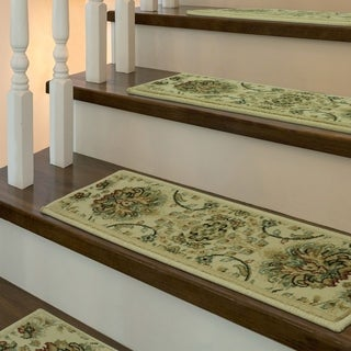 Stair Treads Lisbon Wheat 5-pc set by Bacova