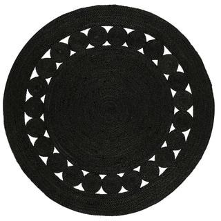 Safavieh Hand-Woven Natural Fiber Black Jute Rug (3' Round)