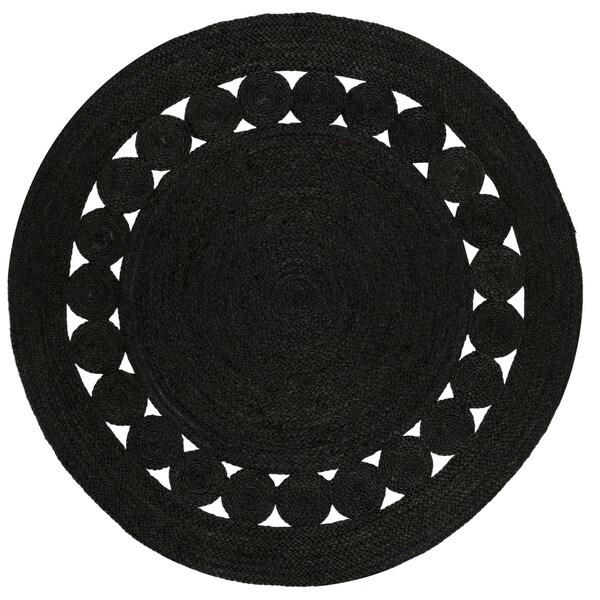 Safavieh Hand Woven Natural Fiber Black Jute Rug 3 X27