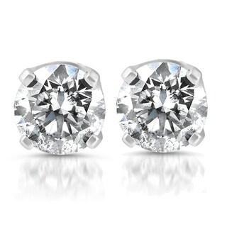 Bliss 14k White Gold 1/3ct TDW Diamond Studs
