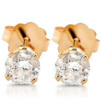 Bliss 14k Yellow Gold 1/4ct TDW Diamond Studs - White