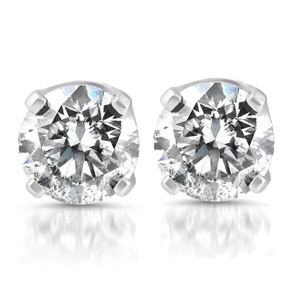 31dc63b0f Shop Bliss 14k White Gold 1/4 ct TDW Diamond Studs - On Sale - Free ...