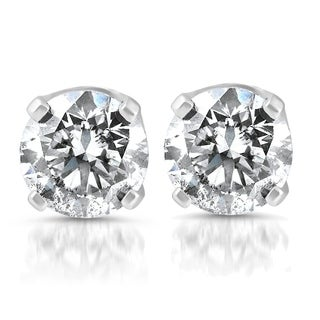Pompeii3 14k White Gold 1/4 ct TDW Diamond Studs