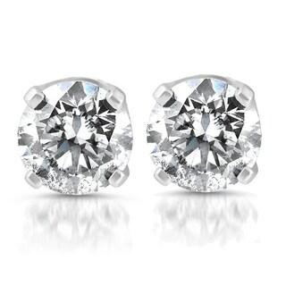 Bliss 14k White Gold 1/4 ct TDW Diamond Studs