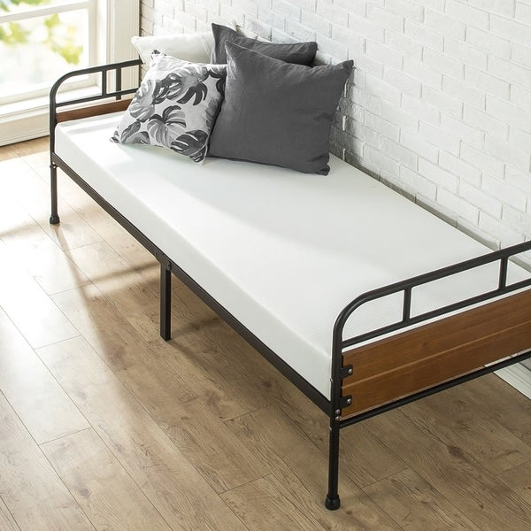 Priage Santa Fe 30 Inch Narrow Size Day Bed Frame and Foam Mattress ...