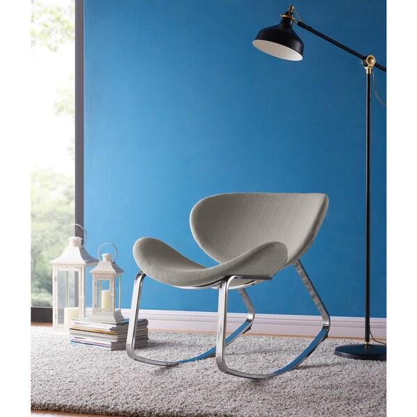 Shop Handy Living Peter Dove Grey Linen Modern Armless