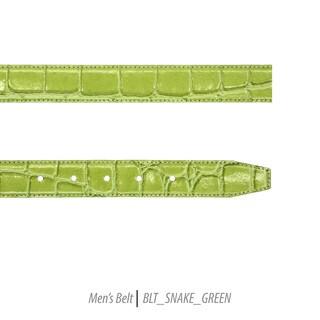 Ferrecci Mens 100% Genuine Leather Snake Print Belt Strap