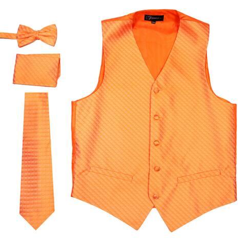 Ferrecci Mens Diamond Pattern 4pc Vest Set