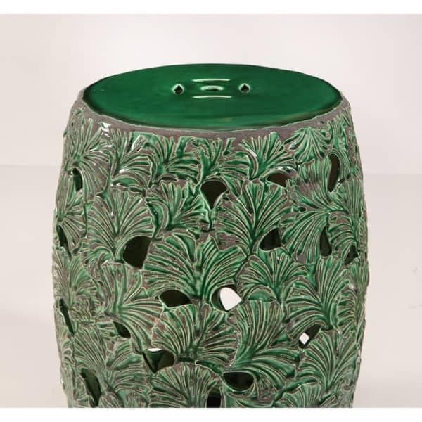 Strange Shop Abbyson Jade Textured Leaf Ceramic Garden Stool Unemploymentrelief Wooden Chair Designs For Living Room Unemploymentrelieforg
