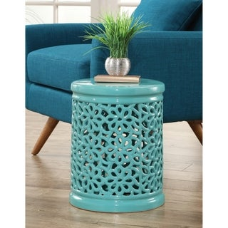 Safavieh Flora Light Blue Garden Stool Free Shipping