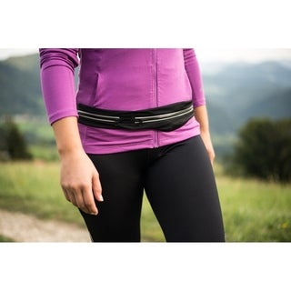 2-Compartment Running Belt - Workout Belt Pack - Athletic Waist Pack