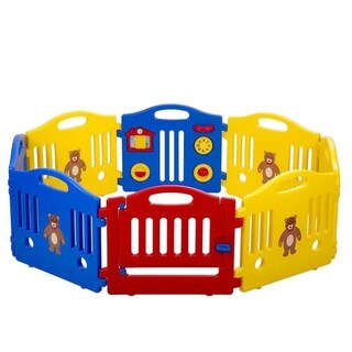8 Panel Safety Play Center Yard Baby Playpen Kids Home Outdoor Pen