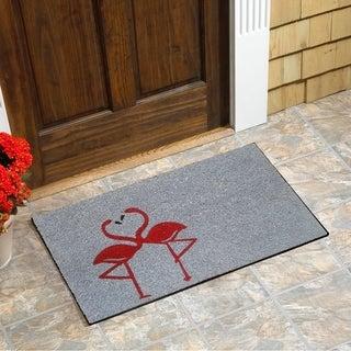"""Flamingos Vinyl Backed Coir Doormat (18""""x30"""")"""