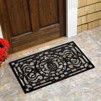 "Pineapple Natural Rubber Doormat (18""x30"")"