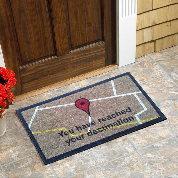 "Destination Pin Vinyl Backed Coir Doormat (18""x30"")"