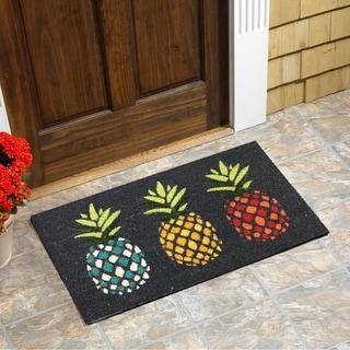 """Pineapples Vinyl Backed Coir Doormat (18""""x30"""")"""