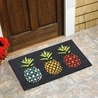 "Pineapples Vinyl Backed Coir Doormat (18""x30"")"